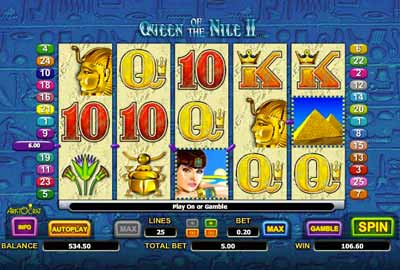 Online Pokie Queen of the Nile